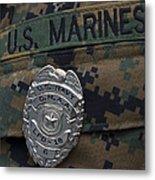 Close-up Of A Duty Master-at-arms Badge Metal Print