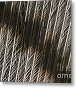 Close-up Of A Turkey Feather Metal Print