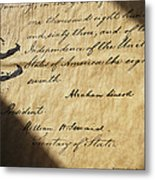 Close-up Of Emancipation Proclamation Metal Print