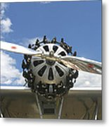 Close-up Of Engine On Antique Seaplane Canvas Poster Print Metal Print