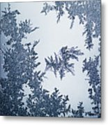 Close Up Of Ice Crystals Metal Print