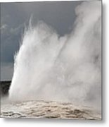 Close Up Of Old Faithful Metal Print