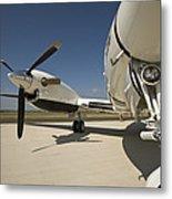 Close Up Of Turbo-prop Aircraft Metal Print