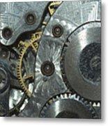Close-up View Of Complex Clockwork Metal Print