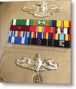 Close-up View Of Military Decorations Metal Print