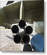 Close-up View Of The Rocket Pod On An Metal Print