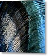 Close View Of A Sheet Of Water Pouring Metal Print