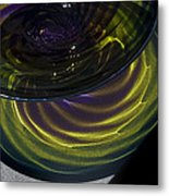 Close View Of Glass Bowl Metal Print