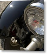 Close View Of The Headlight Metal Print
