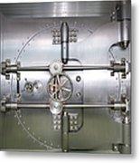 Closed Door To A Bank Vault Metal Print