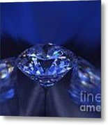 Closeup Blue Diamond In Blue Light. Metal Print by Atiketta Sangasaeng