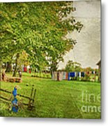 Clothes On The Line Metal Print