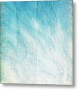 Cloud And Blue Sky On Old Grunge Paper Metal Print
