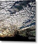 Cloud Blanket Sunset Metal Print