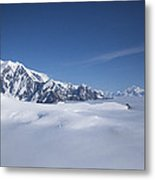 Cloud-covered Bowl Of The Upper Hubbard Glacier Metal Print