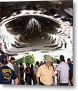 Cloud Gate Sculpture In Chicago Metal Print