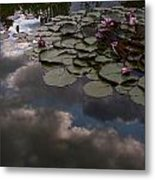 Clouded Pond Metal Print