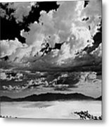 Clouds Above White Sands Metal Print