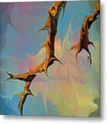 Clouds And Branches Of Life Metal Print