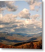 Clouds And Mountains Metal Print