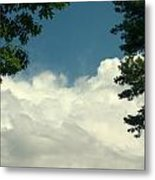 Clouds At Malletts Bay Metal Print