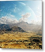 Clouds Break Over A Desert On Matsya Metal Print by Brian Christensen