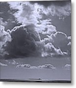 Clouds Gathering Metal Print