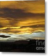 Clouds Illuminated At Sunset Metal Print