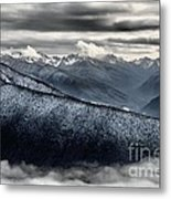 Clouds In The Valley Metal Print