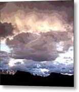 Clouds Natural Art Metal Print