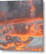 Clouds On Fire Metal Print by Kevin Bone