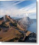 Clouds On The Ridge Metal Print