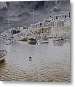 Clouds Over Brixham Metal Print