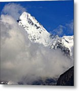 Clouds Over Snow White Peak Metal Print