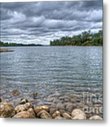 Clouds Over The American River Metal Print