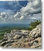 Clouds Over The Cliff Metal Print