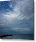 Clouds Over The Jetty Metal Print