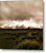 Clouds Over The Tetons Metal Print