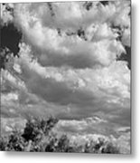 Clouds Rising Bw Palm Springs Metal Print
