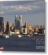 Clouds Rolling In On New York City Metal Print