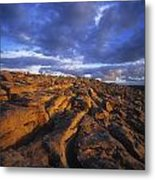 Cloudscape Over A Landscape, The Metal Print