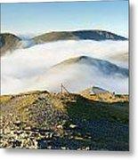 Cloudsurfing Grisedale Pike Metal Print