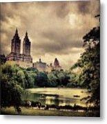 Cloudy Central Park. #nyc #centralpark Metal Print