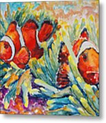 Clownfish In Their Paradise Metal Print