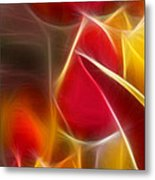 Cluisiana Tulips Triptych Panel 1 Metal Print