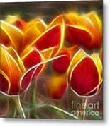 Cluisiana Tulips Triptych Panel 2 Metal Print