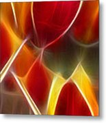 Cluisiana Tulips Triptych Panel 3 Metal Print