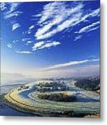 Co Derry, Ireland High Angle View Of Metal Print