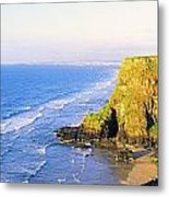 Co Derry, Ireland View Of Cliffs And Metal Print