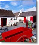 Co Donegal, Ireland Cottage Near Metal Print